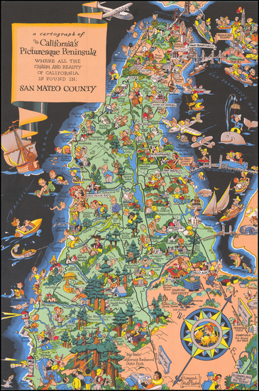 50-Pictorial Maps and California Map By Ruth Taylor White