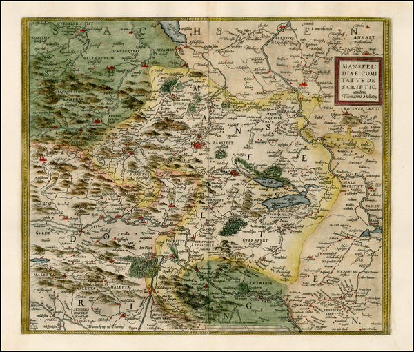 83-Germany Map By Abraham Ortelius