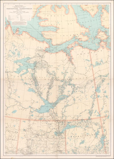 98-Canada Map By Canadian Department of the Interior