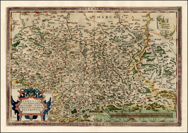 73-Germany and Czech Republic & Slovakia Map By Abraham Ortelius