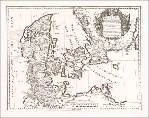 Sweden and Denmark Map By Giacomo Giovanni Rossi
