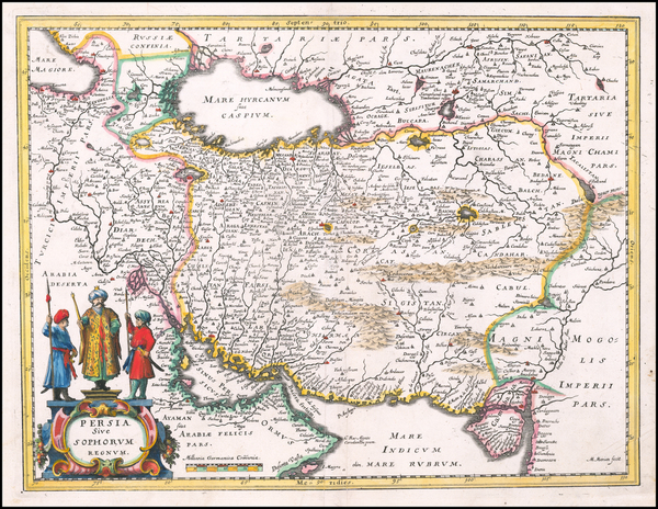 19-Middle East and Persia Map By Matthaus Merian