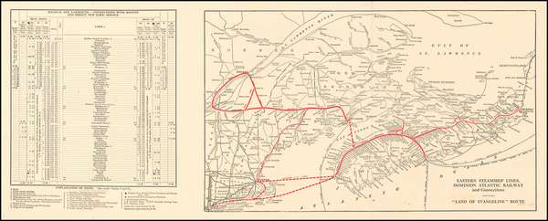New England and Canada Map By Dominion Atlantic Railway