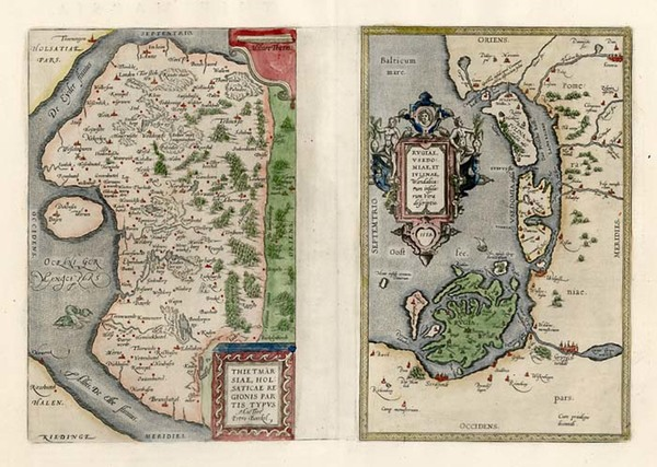 91-Germany, Baltic Countries and Scandinavia Map By Abraham Ortelius