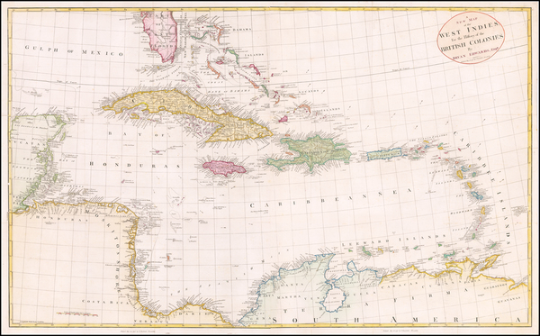 58-Florida and Caribbean Map By Bryan Edwards
