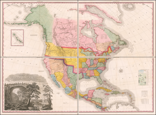 United States and North America Map By Henry Schenk Tanner