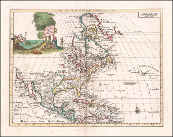 North America Map By Giambattista Albrizzi