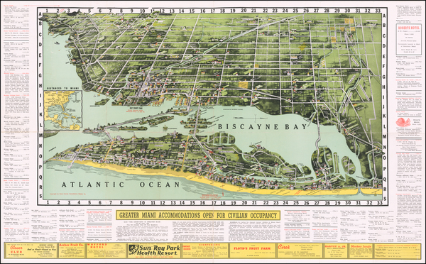 77-Florida Map By Dade County Newsdealers Supply Co.