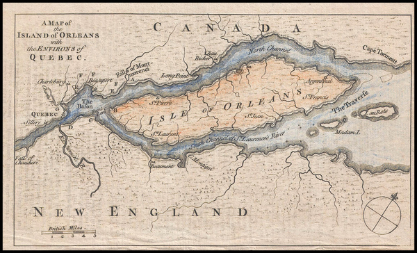 32-Canada Map By Gentleman's Magazine