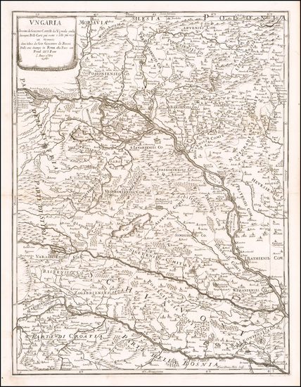 89-Hungary Map By Giacomo Giovanni Rossi