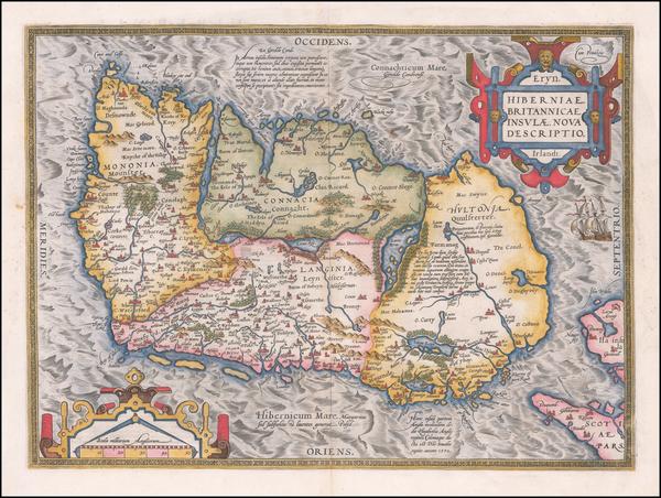 84-Ireland Map By Abraham Ortelius
