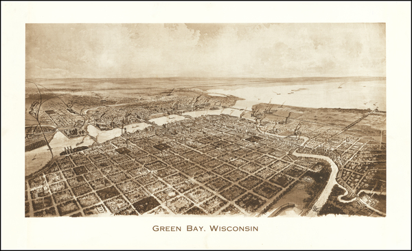 61-Wisconsin Map By Barnes-Crosby Company