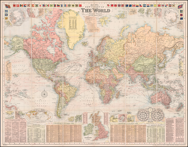 66-World Map By G.W. Bacon & Co.
