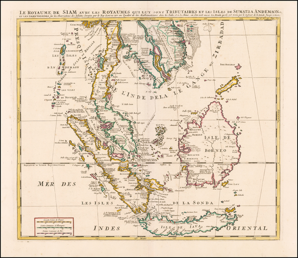99-Southeast Asia, Indonesia, Malaysia and Other Islands Map By Henri Chatelain