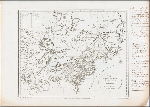 22-United States, New England, Mid-Atlantic, Midwest and Canada Map By John Stockdale / Jedidiah M