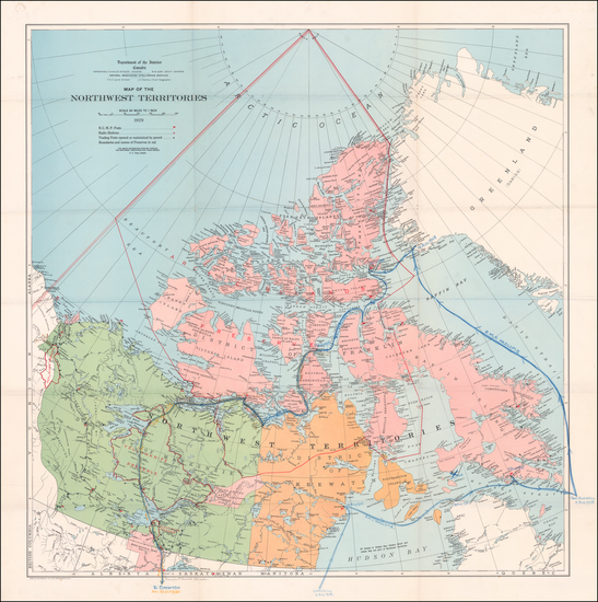 61-Canada Map By Canadian Department of the Interior