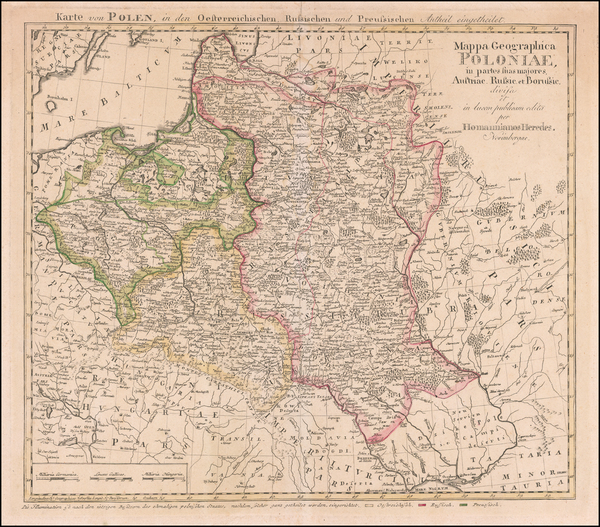 Poland and Baltic Countries Map By Homann Heirs