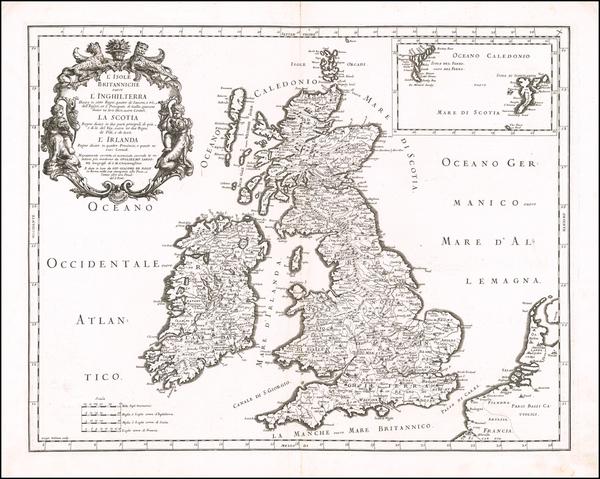 92-British Isles Map By Giacomo Giovanni Rossi - Giacomo Cantelli da Vignola