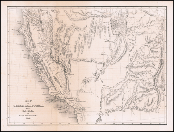 23-Southwest, Arizona, Colorado, Utah, Nevada, Rocky Mountains, Colorado, Utah and California Map
