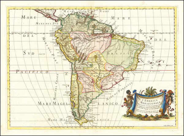 88-South America Map By Giacomo Giovanni Rossi
