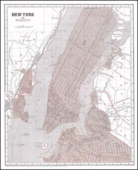 75-New York City Map By Sidney Morse  &  Samuel Breese