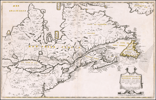 6-New England, Mid-Atlantic, Midwest and Canada Map By Jean Boisseau