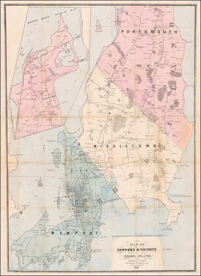 68-New England and Rhode Island Map By A. J. Ward