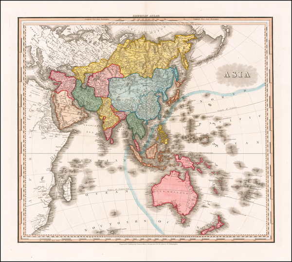83-Asia and Australia Map By Henry Schenk Tanner