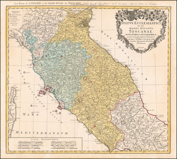 66-Northern Italy Map By Homann Heirs