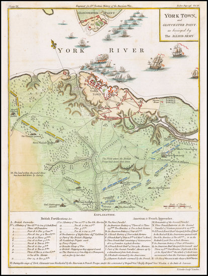 82-Virginia and American Revolution Map By William Gordon