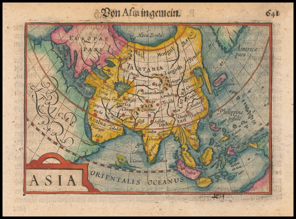 50-Asia Map By Petrus Bertius