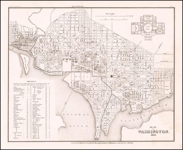 61-Washington, D.C. Map By Joseph Meyer