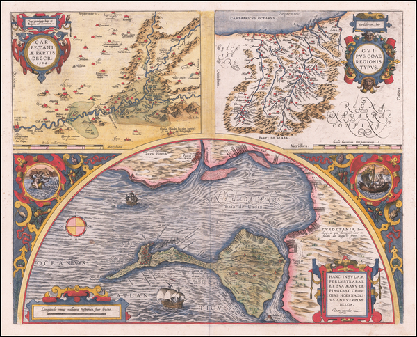 4-Spain Map By Abraham Ortelius
