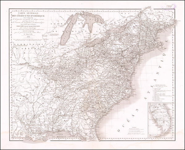 65-United States Map By Guillaume-Tell Poussin