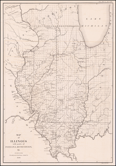 52-Midwest, Illinois, Indiana, Michigan and Wisconsin Map By David Hugh Burr