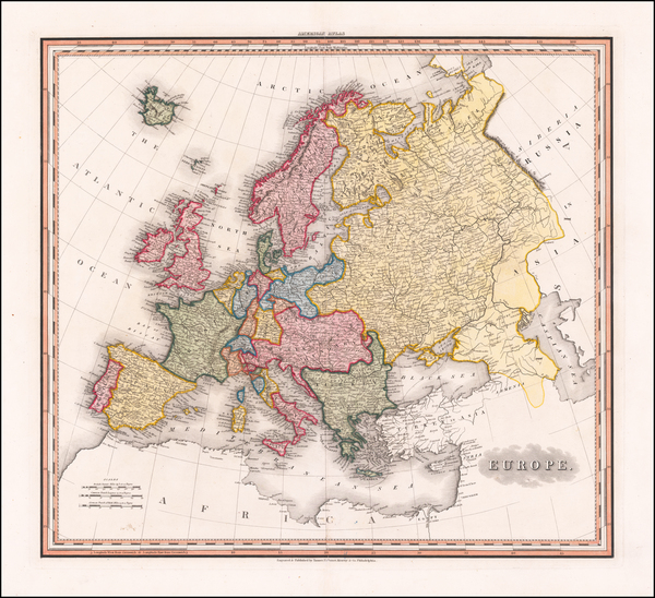 Europe Map By Henry Schenk Tanner