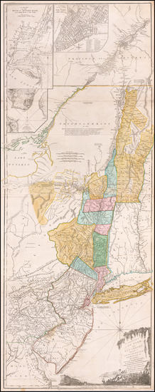 60-New England, Vermont, New York State, Mid-Atlantic, New Jersey and Canada Map By Sayer & Be