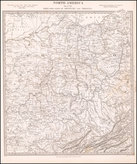 22-West Virginia, Kentucky and Ohio Map By SDUK