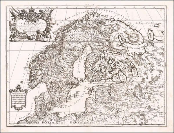 67-Scandinavia, Sweden, Norway, Denmark and Finland Map By Giacomo Giovanni Rossi