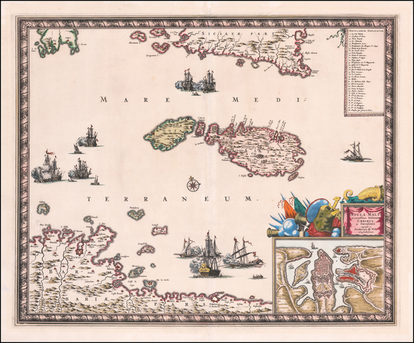 85-Malta Map By Frederick De Wit