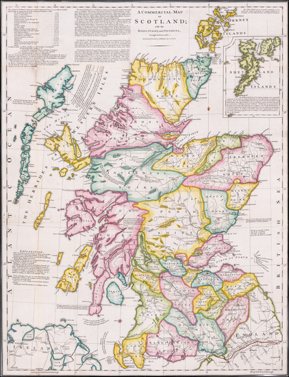 63-Scotland Map By J. Knox