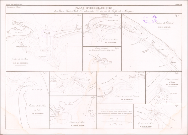 22-Florida and Alabama Map By Guillaume-Tell Poussin
