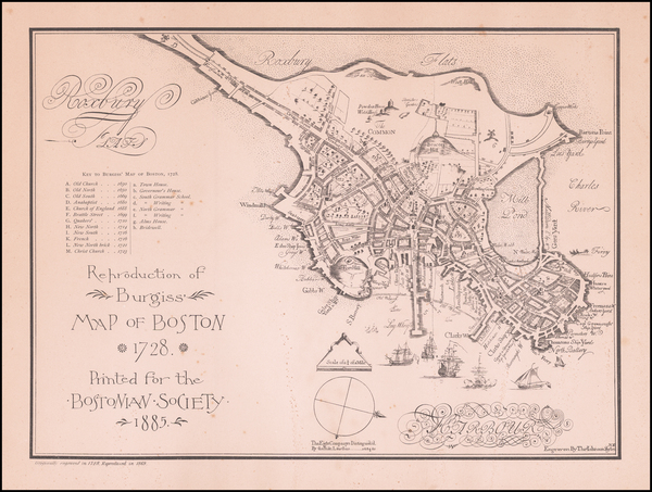 57-New England, Massachusetts and Boston Map By Thomas Johnson