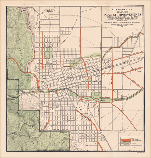 100-Colorado and Colorado Map By Frederick Law  Olmsted / Henry  A. Drumm