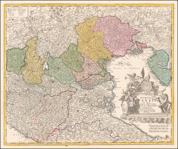 7-Northern Italy Map By Johann Baptist Homann