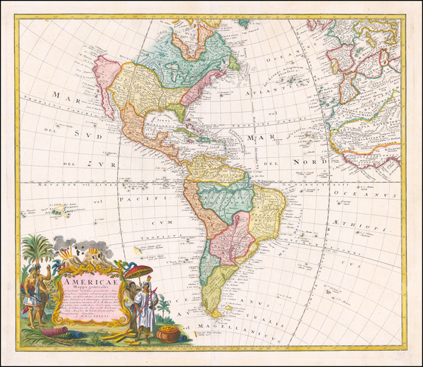 21-America Map By Homann Heirs / Johann Matthaus Haas