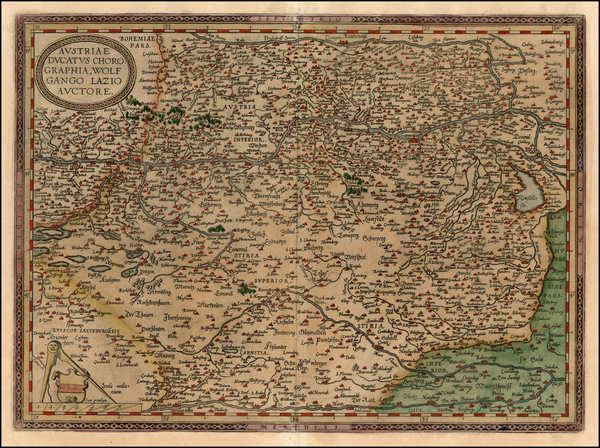 77-Europe, Austria, Hungary and Czech Republic & Slovakia Map By Abraham Ortelius