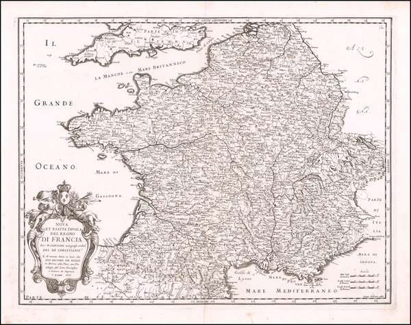 76-France Map By Giacomo Giovanni Rossi