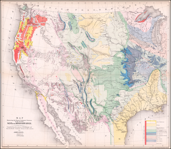 78-United States Map By William Hemsley Emory