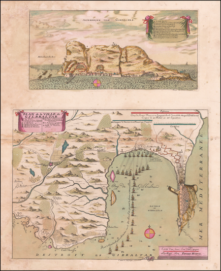 53-England and Spain Map By Pierre Husson